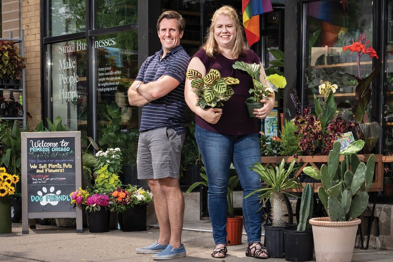 Husband-and-wife team Erik and Leah Thallemer operate Primrose, a locally owned shop that opened in 2019