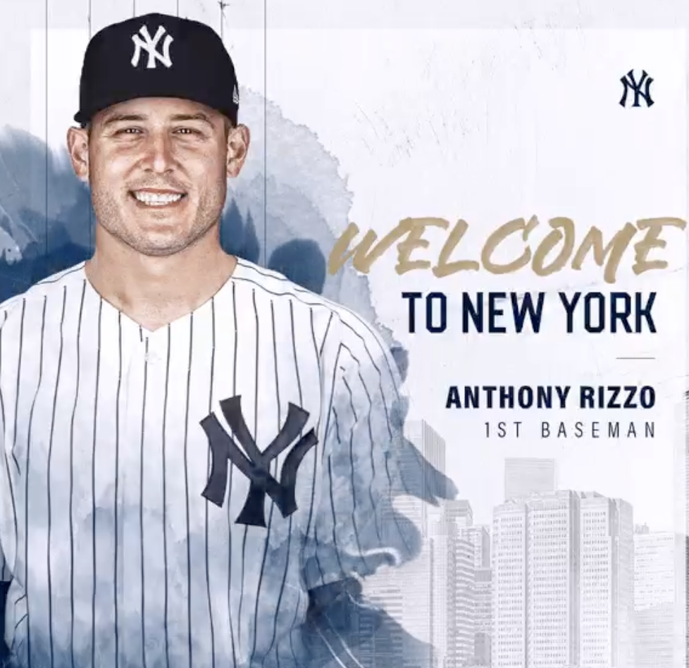 Anthony Rizzo is officially a New YorkYankee