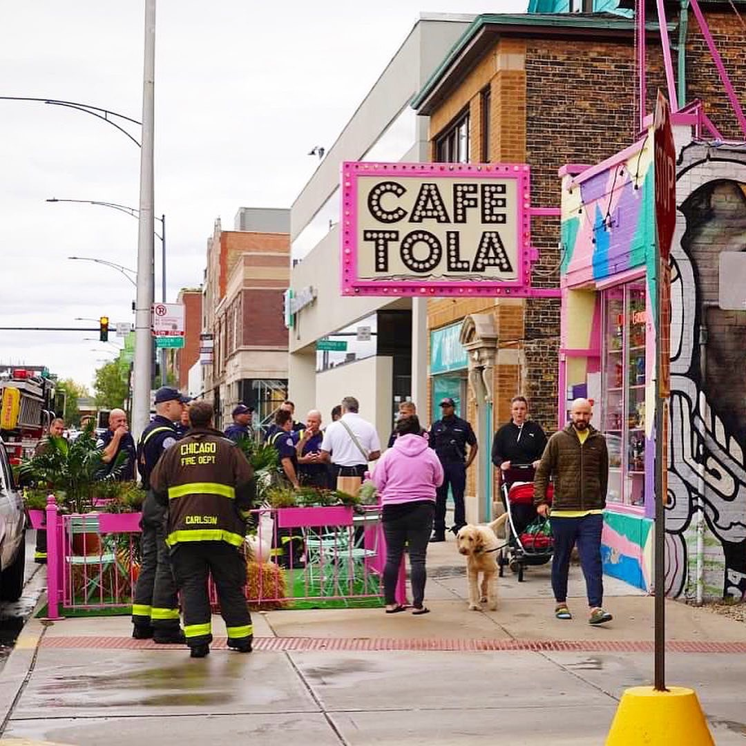 Small fire at CafeTola